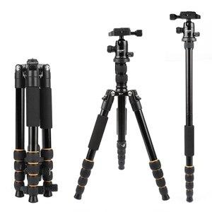 Image 1 - Zomei tripe portátil q666 profissional leve, leve, tripé, de alumínio, monopé, para câmeras digitais dslr