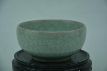 Antique SongDynasty porcelain bowl, RU KILN,Fish scale glaze,Hand-painted crafts,Collection&Adornment,Free shipping