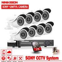 1080P Video Surveillance System 8CH CCTV Security Kit 8PCS 1080P Security Camera Super Night Vision 8 CH 1080N CCTV DVR