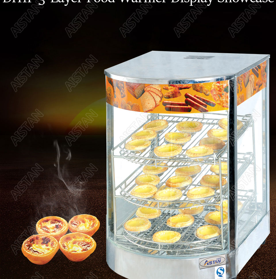 DH1P Commercial Countertop Electric Stainless Steel snack bread pizza Food Warmer Display Showcase 2