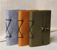 Refillable Felt Journal Traveler's Notebook vintage drawing book