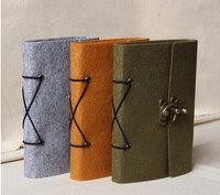 Refillable Felt Journal Traveler's Notebook vintage drawing book