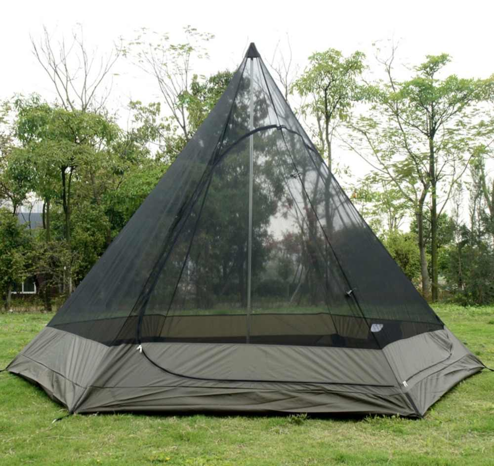 Indian Style Pyramid Tipi Tent Uni 10ft Double Door