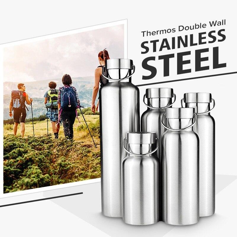 Neue Edelstahl Doppel Wand Vakuum Krug Isoliert Wasser Flaschen Reise Kaffee Trinken Vakuum Flaschen 350/500/650 /700/1000 ml