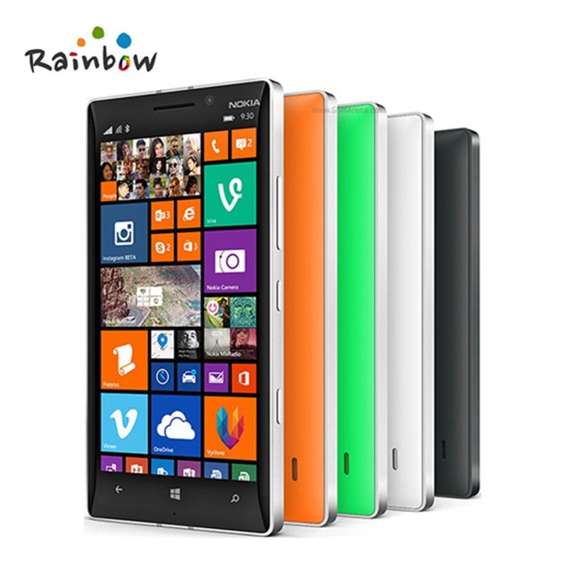 bilder für Freigesetzte ursprüngliche nokia lumia 930 mobile telefon qualcom 800 quad core 2 GB RAM 32 GB ROM 20MP 5 zoll telefon freies verschiffen
