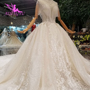 Image 1 - AIJINGYU חתונה שמלות מעצבי שמלת מין למעלה אמא של כלות שמלות תוצרת סין בציר קצר שמלת כלה