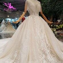 Aijingyu 웨딩 드레스 디자이너 가운 섹스 탑 어머니 신부 가운 중국에서 만든 빈티지 짧은 웨딩 드레스