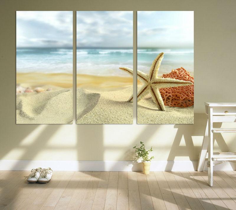 Enchanting Beachy Wall Decor Ensign - Wall Art Design ...
