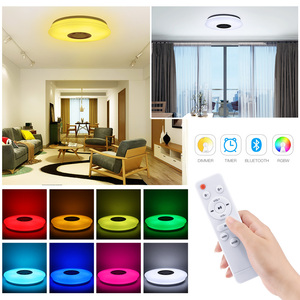 Image 2 - Smart Led Ceiling Light RGB Dimmable 36W 60W APP Control Bluetooth & Music Modern Led Ceiling Lamp Living Room Bedroom 220v