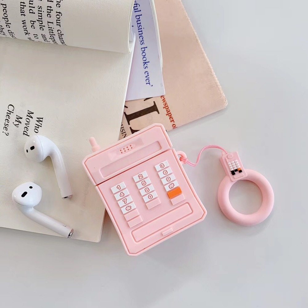 Image 4 - 3D Mobile phone soft silicon Wireless Earphone Charging Cover Bag for Apple AirPods 1 2 black Pink Bluetooth Headset Box-in Earphone Accessories from Consumer Electronics
