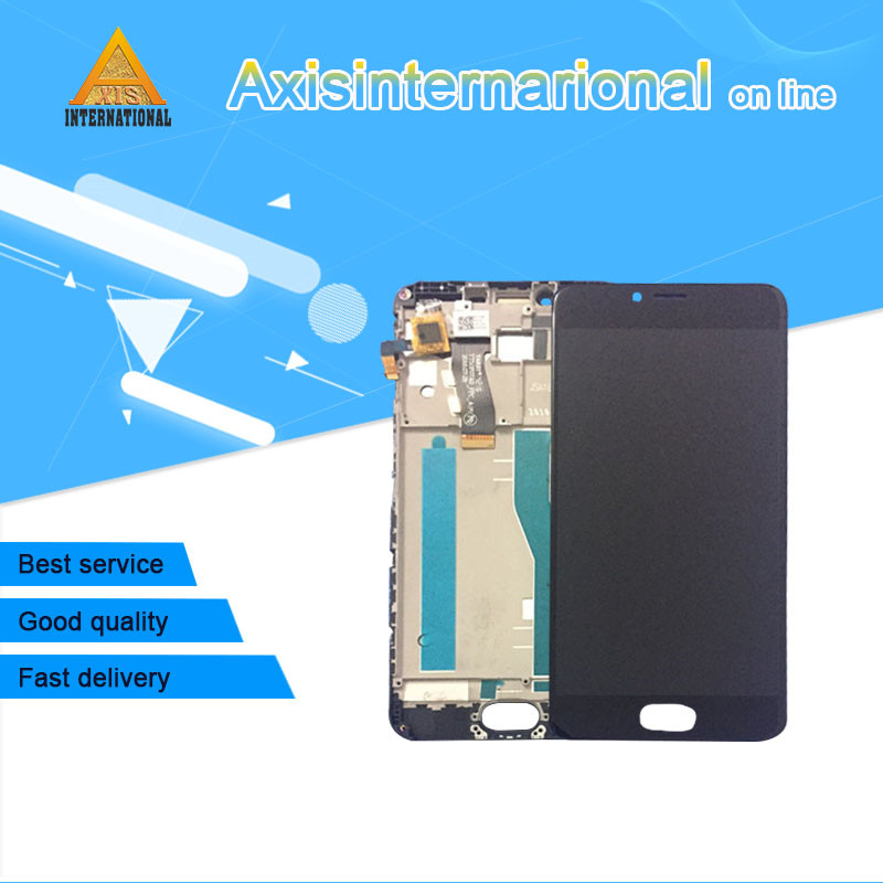 Axisinternational LCD Screen Display Touch Digitizer With Frame For 5 2 Meizu M5 Mini Black Color