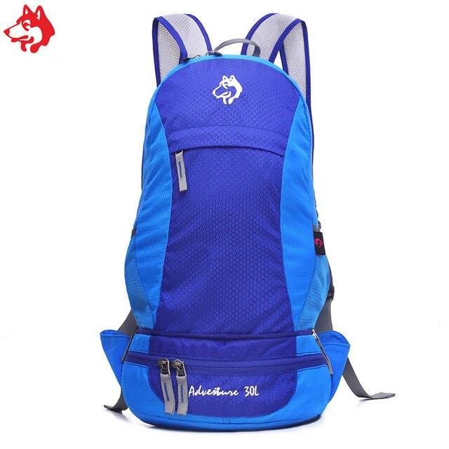 cc32b14a3877 30L hot sale Hiking Trekking Backpack waist Bags two in one Waterproof  Outdoor rucksack Rose Green Blue camping Sport Backpacks