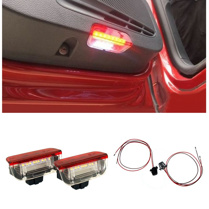 цена на Car Door  Courtesy Welcome Warning Light For VW Volkswagen EOS  Golf Plus Golf 5 GTI Mk5 Mk6 Tiguan Jetta Scirocco Touareg CC