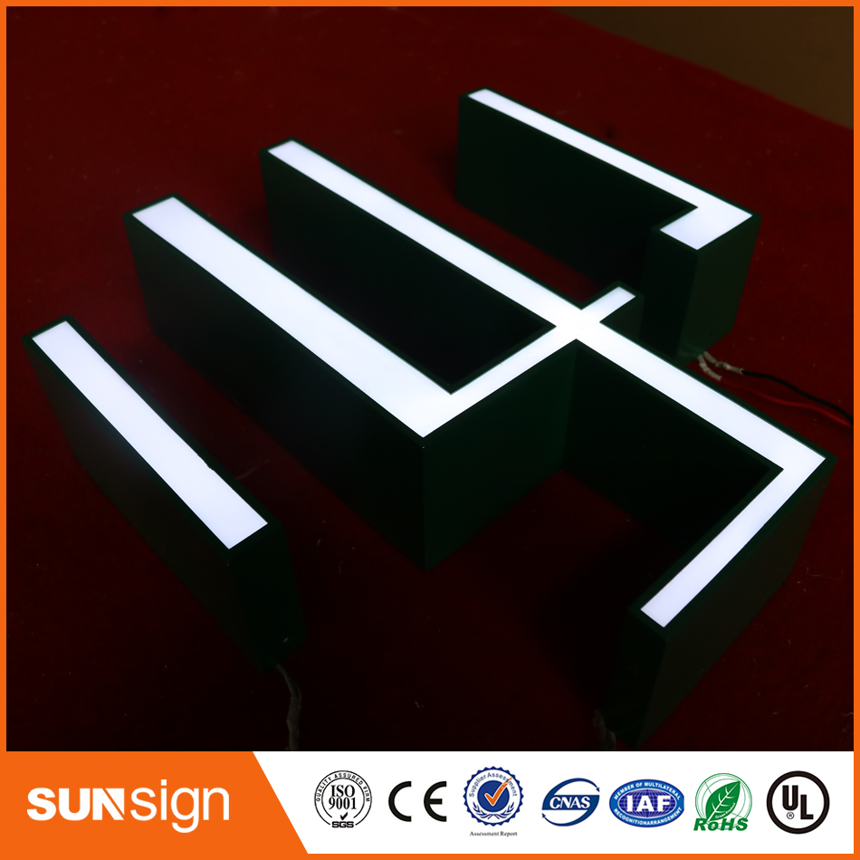 Double Side Lit Letter Big Alphabet Acrylic Led Letter Sign