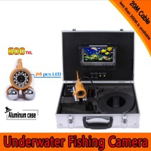 Underwater Fishing Camera Kit with 20Meters Depth Dual Lead Bar Camera & 7Inch Color TFT Display Monitor & Aluminum Case