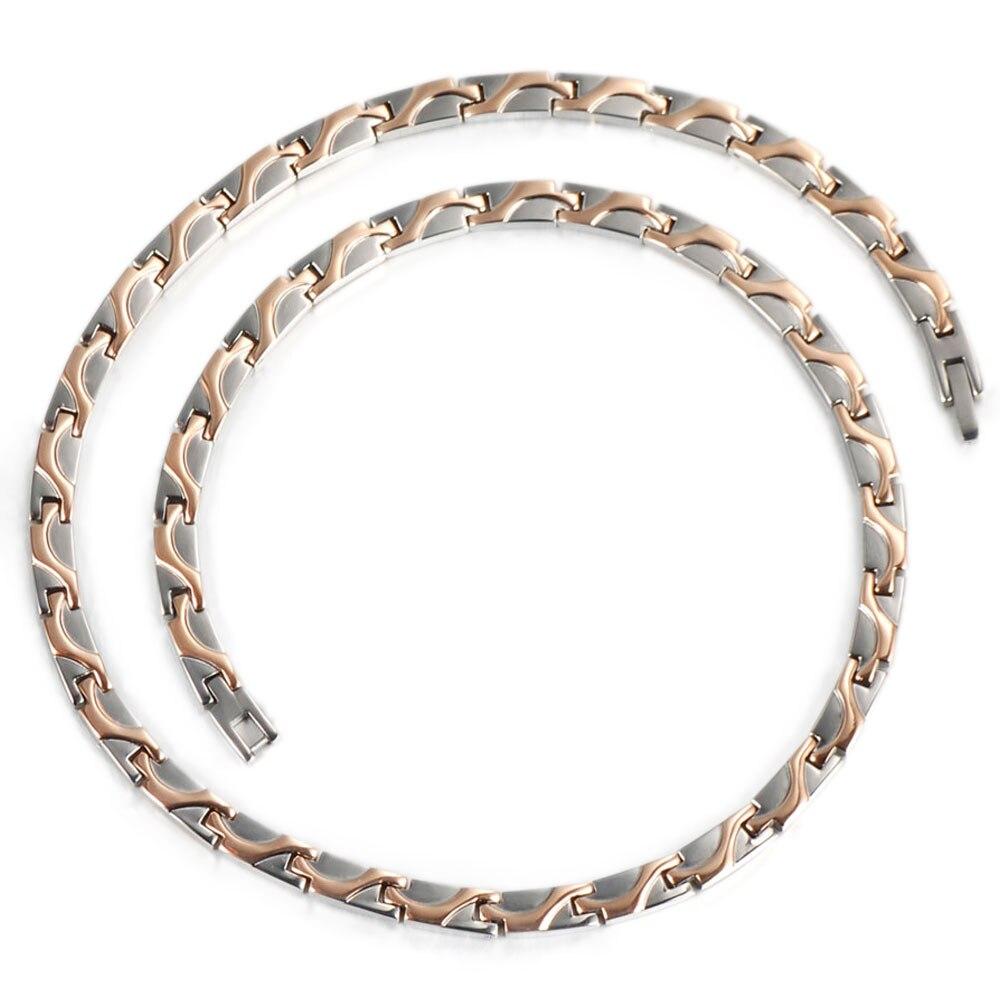wollet jewelry health energy korean 5mm titanium negative