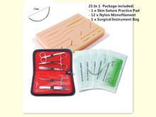 교육 피부 봉합 훈련 키트 패드 연습 모델 바늘 봉합 나일론 세트 의료 외과 인 스트 루먼트