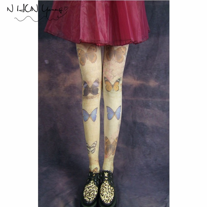 Sexy Women Tights Harajuku Pantyhose In a grid Stockings Halloween Sex Body Hosiery Lolita Fancy Medias Party For Women SW072