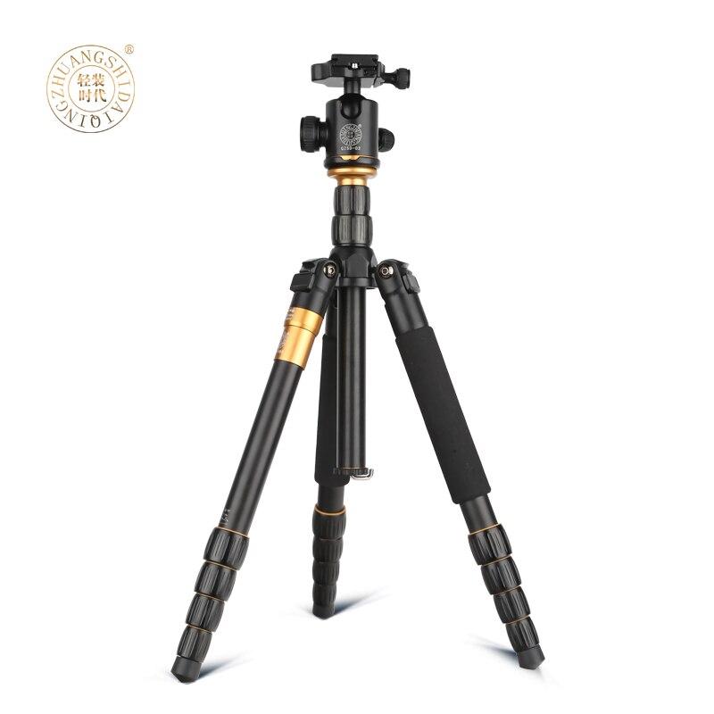 ФОТО 2016 extendable digital camera statief folded 350mm video camera monopod+ panoramic ballhead DSLR travelling tripod stand Q666