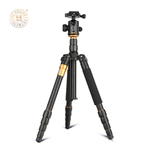 2018 extendable digital camera statief folded 350mm video camera monopod+ panoramic ballhead DSLR travelling tripod stand Q666