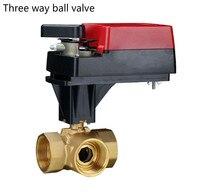 Регулирующий клапан 2 Way 3 способ пропорционального Электрический шаровой кран для 220 В dn25 dn40