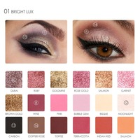 Focallure 18 Colors Eye Shadow Palette Shimmer Matte Cosmetics Beauty Pigment Eye Shadow Mineral Nude Glitter