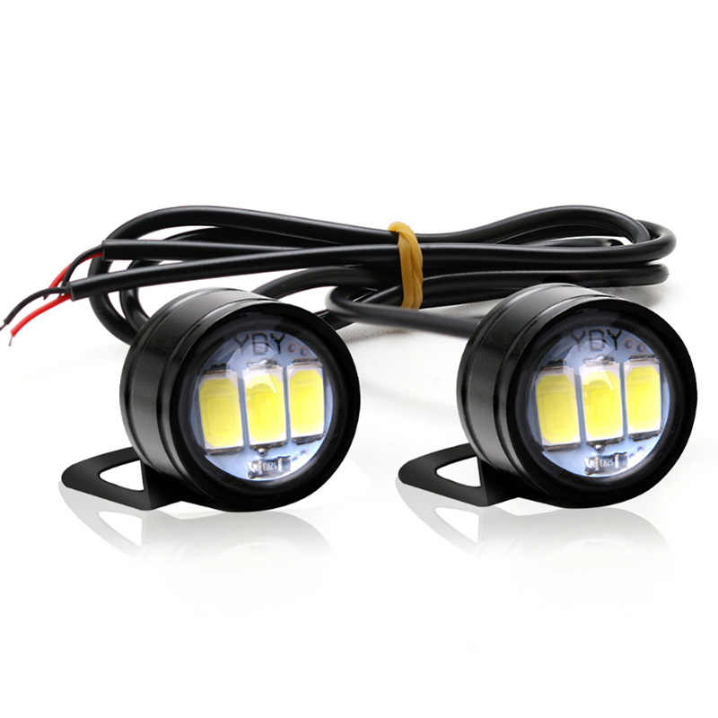 YOUEN 2PCS Car DRL Eagle Eye LED Daytime Running Light Motorcycle Screw Lamp Source Waterproof 5630 3SMD Car Styling