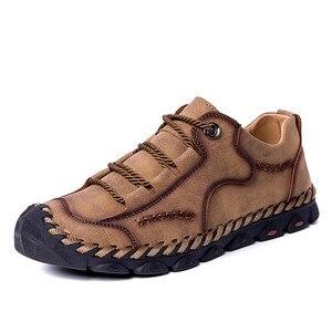 Image 3 - Mynde 2019 yeni moda stil deri bahar rahat ayakkabılar erkekler el yapımı Vintage loaferlar daireler sıcak satış Moccasins büyük boy 38 48