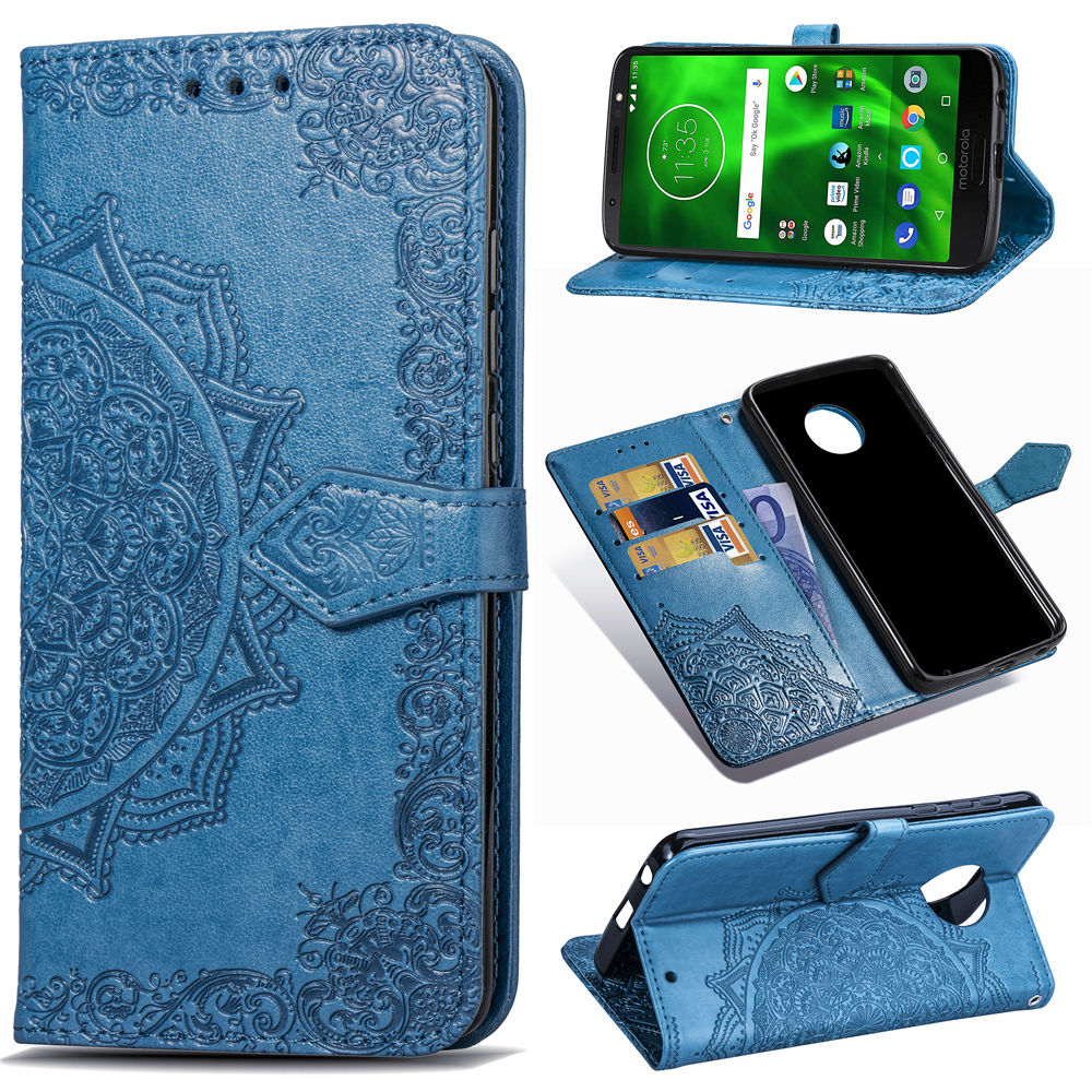 Luxury Case For Motorola Moto G6 PU Leather Wallet Card Flip Magnet Soft TPU Silicon Stand Case for Motorola Moto 1S Phone Cover