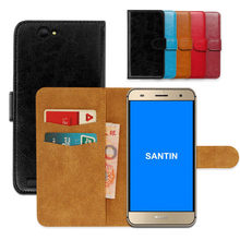 Luxury wallet case for SANTIN ACTOMA ACE PU Leather Special Flip With Card Pocket Phone Cover,Kickstand case(China)