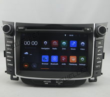 Quad core 1024*600 HD screen Android 7.1 Car DVD GPS radio Navigation for Hyundai I30, Elantra GT 2013-2016 with 4G/Wifi DVR OBD