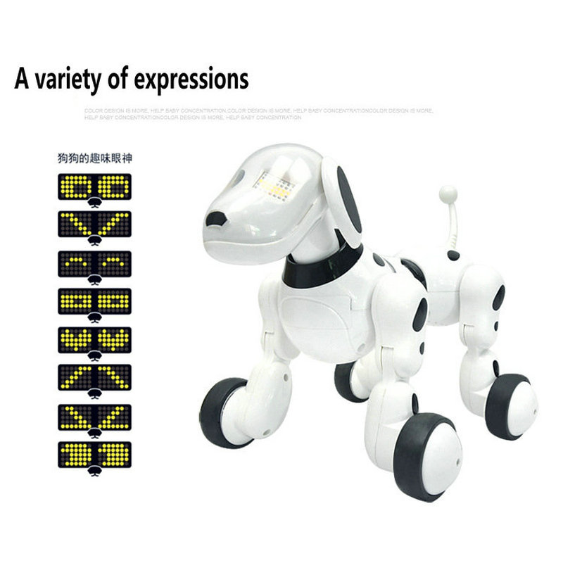 Birthday Christmas Gift RC walking dog 2.4G Wireless Remote Control Smart Dog Electronic Pet Educational Childrens Toy Robot Do