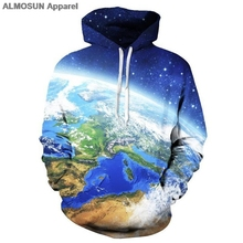 Buy hoodie world map and get free shipping on aliexpress almosun the world map globe blue earth 3d all over printed hoodies pockets sweatshirt hipster street gumiabroncs Image collections