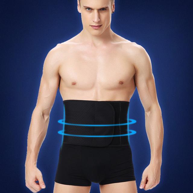 Homens Slimming Body cintura cincher abdômen barriga controle Shapers cintura Tummy Trimmer estômago cinturão de volta suporte enrole