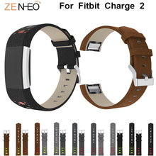 купить leather watch strap bands for fitbit charge 2 band Smart Men's watches straps Wristband for charge 2 Watchband women's bracelet по цене 279.83 рублей