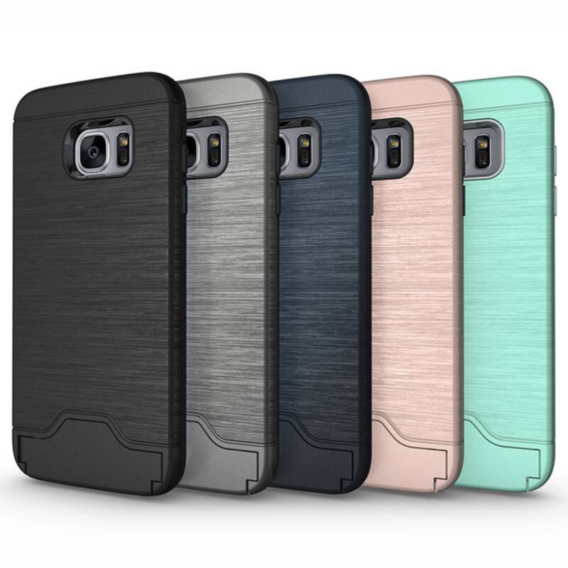 For Samsung Galaxy S7 edge Hard Slim Heavy Hybrid Armor Card Slot Stand Shockproof Protect Back Cover Case For Samsung Galaxy S7