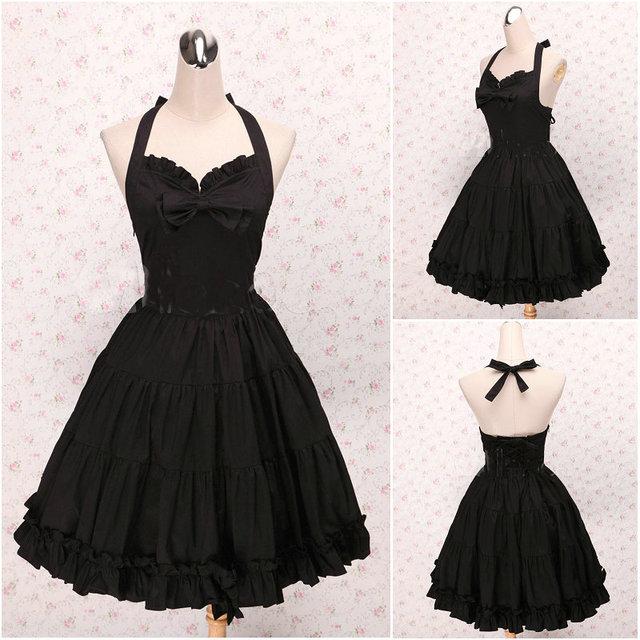 Kunden zu bestellen! V 1024 Schwarz Baumwolle Sleeveless Gothic ...