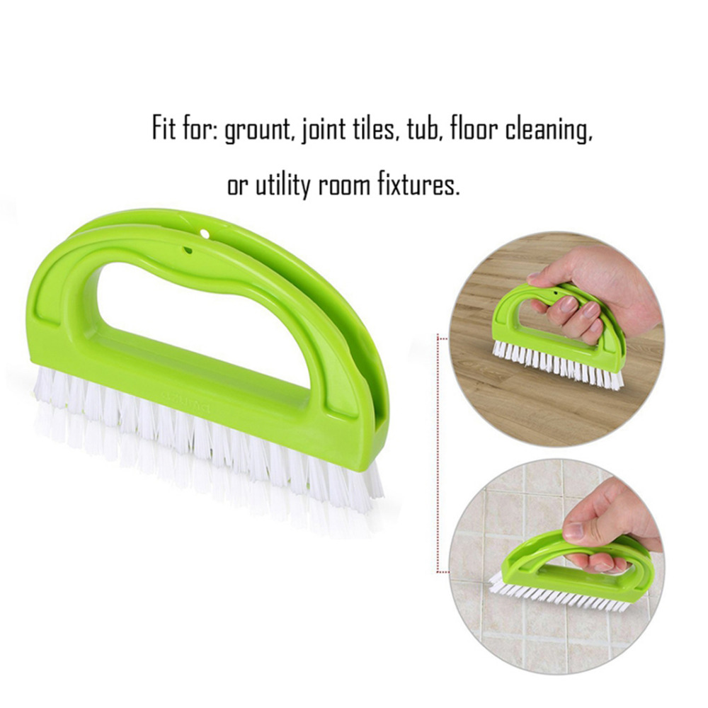 Grout Cleaner Brush Multifunctional Cleaning Tools for Kitchen Bathroom Window Track Groove Gap Joint Scrubber 4 in 1 Floor & Wall Cleaning Brush Tile Grout Brush