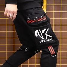 Para mujeres, además de terciopelo pantalones para parejas de carga Pantalones de bolsillos de gran tamaño camisetas ropa deportiva Ninja Hombre Pantalones S 3XL