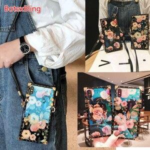 Image 1 - Luxury laser flower crossbody bag soft strap case for huawei P30 pro P20 P20lite nova 3e 2s 3i nova4 mate20 pro cover chain girl