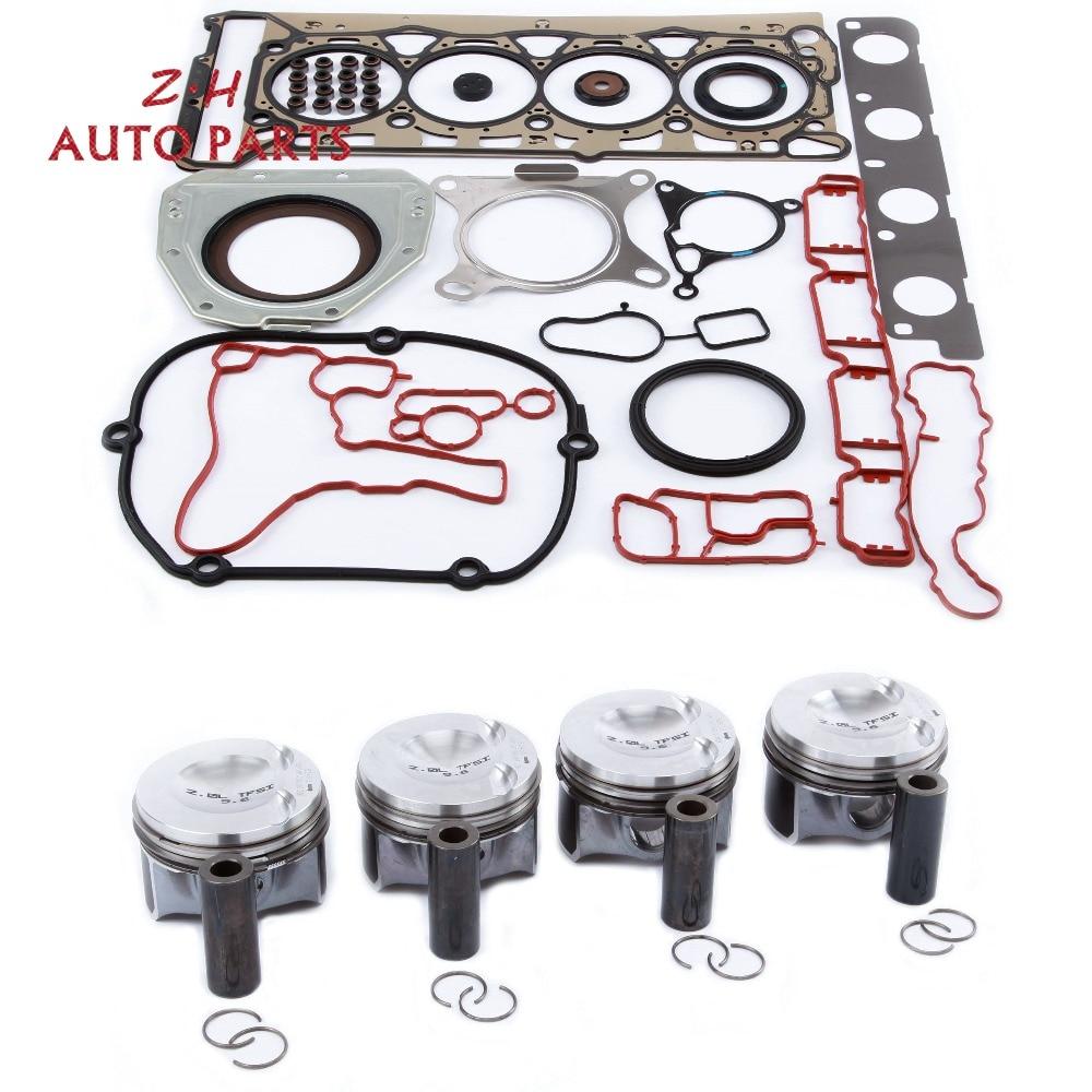 Nouvelle broche 23mm Piston 06H107065DD & moteur Hasket joint anneau Kit de révision pour VW Passat Jetta Audi A4 Q5 2.0 TFSI EA888 06J198151B