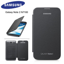 Чехол для samsung Note 2, кожаный матовый противоударный чехол для samsung Galaxy Note 2 N7100, защитный чехол-книжка в виде ракушки