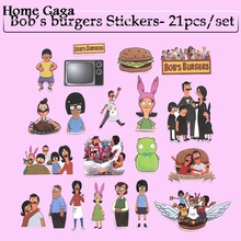 Homegaga 21pcs Bobs burger cartoon Sticker for Laptop Skateboard Motorcycle Home Decoration Styling Vinyl Decals Cool DIY D1234