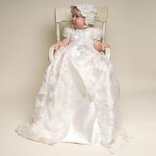 Платье Ребенка Крещение Платье для Девочки Младенческой 1 Год День Рождения Платье для Девочка Chirstening Платье