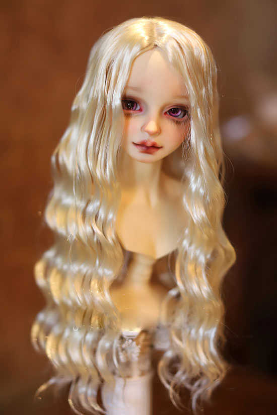 Парики для кукол BJD, имитирующие мохеровые волнистые волосы, доступный для 1/6 1/4 1/3 BJD DD аксессуары для кукол, мягкие волосы для париков sd