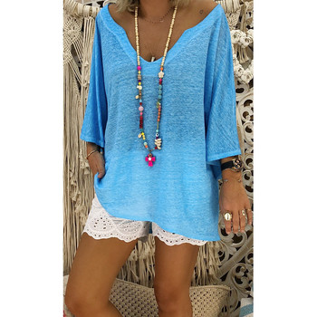 womens shirt V Neck Caftan Boho Beach Cover Plus Size Vintage Hippie Baggy woman tshirt top shirt woman large size chemise femme
