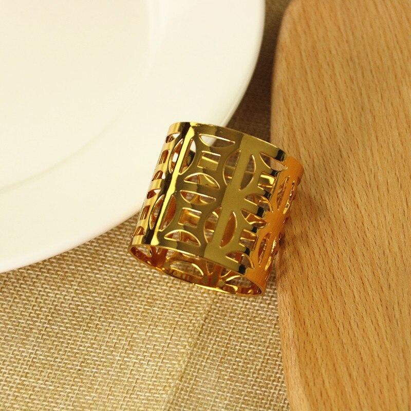 6 PCS modelo do hotel sala de jantar mesa guardanapo anel de guardanapo fivela jóias criativa decoração de cobre dinheiro refeição fivela de ouro/ prata