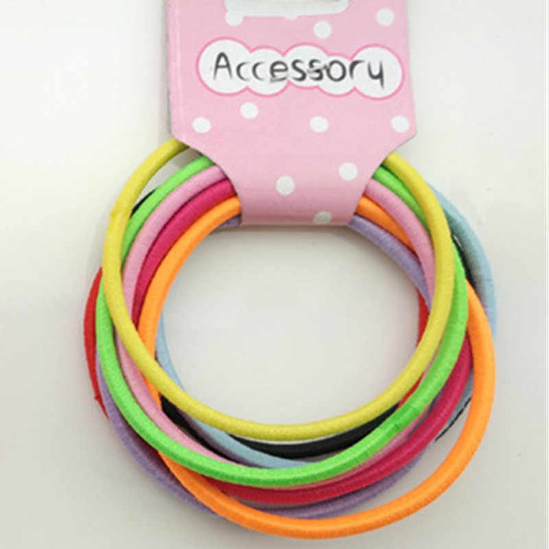 New 10PCS/Lot Girls Nylon 3CM Rubber Bands Children Safe Elastic Hair Bands Ponytail Holder Kids Hair Accessories girl hairbands