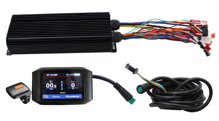 EU DUTY FREE Ebike Customized 48V 60V 72V 2000W 24 MOSFET 80A Controller Color 750c Display Programmable Reverse Electric Bike