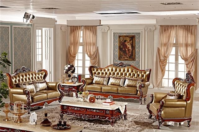 Carving Wood Sectional Sofa Set 3+2+1, Classic European Sofa ...
